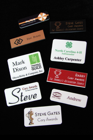 Some of the many nametag possibilities!